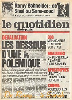1982-05-31 - Quotidien Paris - N° 780