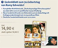 Timbres Romy Schneider annonce