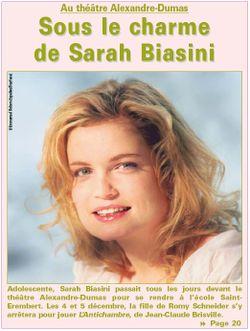 Sarah Biasini photo