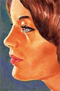 Romy Schneider by Guy Pouks