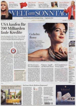 2008-09-21 - Welt am Sonntag - N° 38