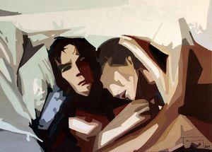 Romy Schneider et Alain Delon by Stephanie Tardy