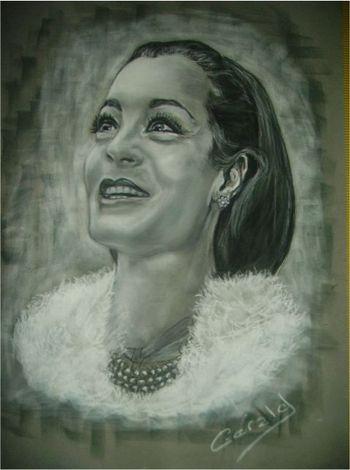 Romy Schneider by Gerald