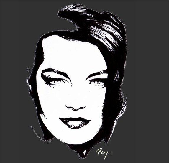 Romy Schneider by Romy