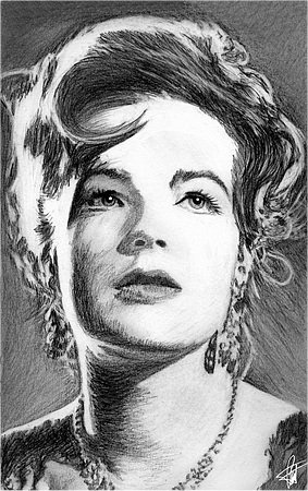 Romy Schneider by Pierre Louis Toret