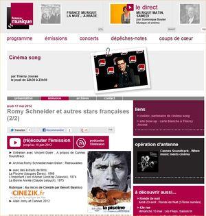 Cinéma Song - 17 mai 2012