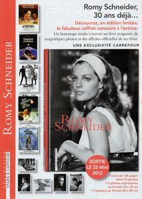 de romy schneider sarah biasini coffret hommage romy schneider chez carrefour. Black Bedroom Furniture Sets. Home Design Ideas