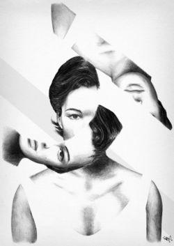 Romy Schneider by Samad Jble 01