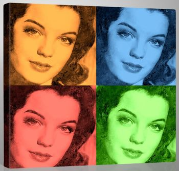 Romy Schneider Art Collage
