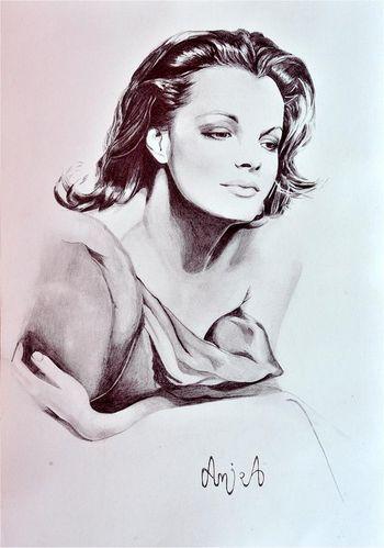 Romy Schneider by Amira El Fohail