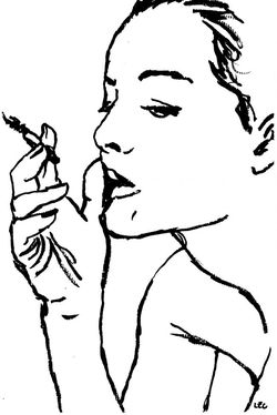 Romy Schneider by Francis Léonard