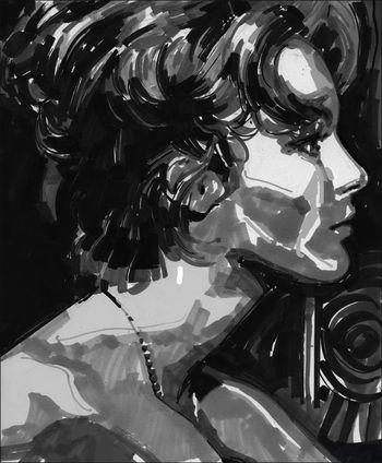 Romy Schneider by Alberto Mielgo