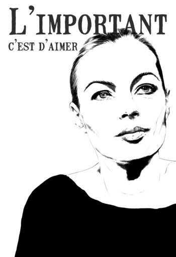 Romy Schneider by Bernadette Moens