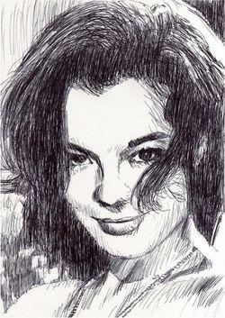 Romy Schneider by Francis Léonard (2)