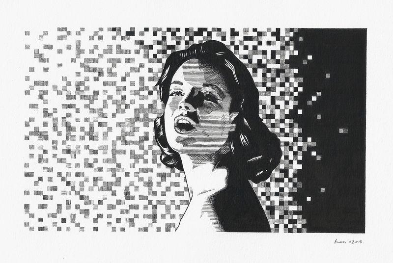 Romy Schneider by Bren Luke