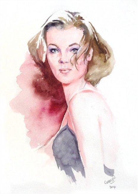 Romy Schneider by Lebrun