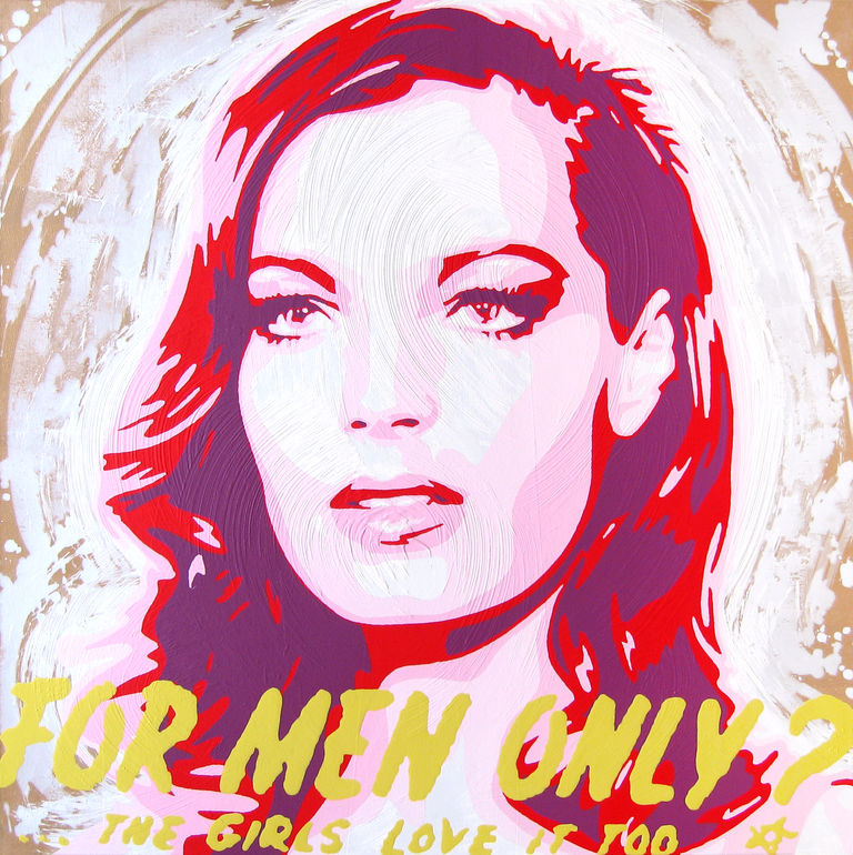 Romy Schneider by Moz Paintings