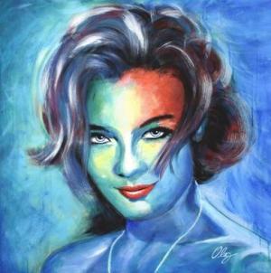 Romy Schneider by Oleg