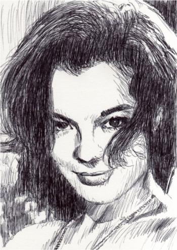 Romy Schneider by LeoPeintre