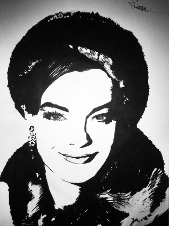 Romy Schneider by Stephane Piovan Draw