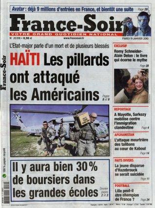2010-01-19 - France Soir - N° 20318